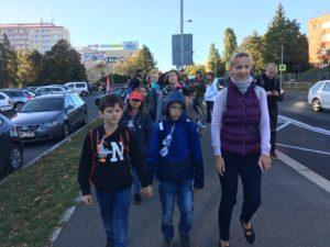 Dopravní projekt: Pěšky do školy - říjen 2019