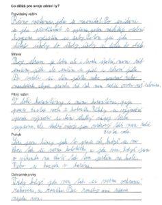 Dubnové domácí práce žáků 1. - 9. tříd - duben 2020