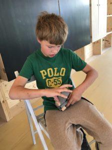 Pracovní vyučování v nové venkovní učebně - září 2020