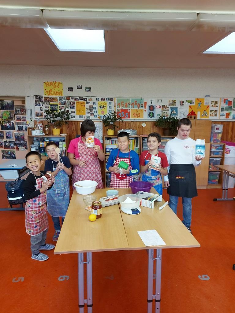 Pracovní vyučování v jedné ze tříd školy - říjen 2020